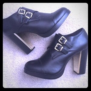f21 buckled booties (9)